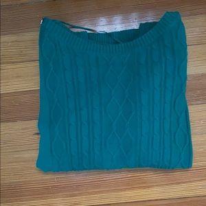 Karen Scott green cardigan